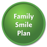 Family Smile plan on a pear green circle against a black background