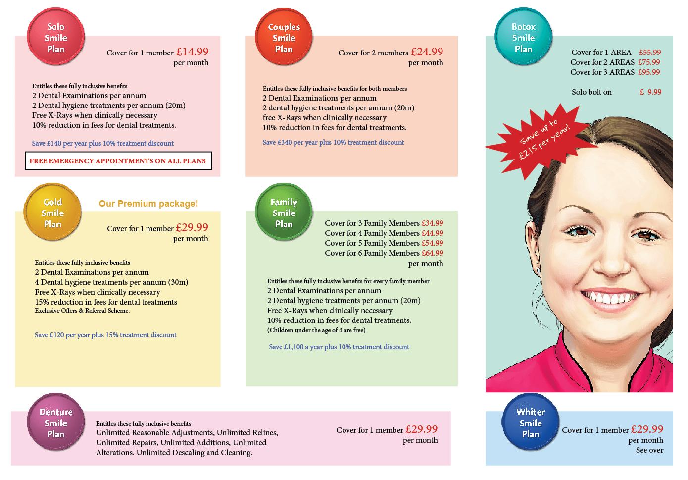 pricelist 2018 smile plans